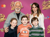 Charlie and the Chocolate Factory's John Rubinstein, Emily Padgett, Ryan Foust, Ryan Sell and Jake Ryan Flynn snap a sweet pic.