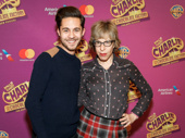 Broadway fave alert! Charlie and the Chocolate Factory's Mike Wartella and Jackie Hoffman, who will play the Teevees, take a pic.