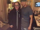 Props to Hamilton star Seth Stewart for keeping a straight face while snapping a pic with comedy queen Melissa McCarthy.(Photo: Instagram.com/iamsethstewart)