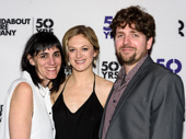 Director Leigh Silverman, star Marin Ireland and playwright Martin Zimmerman pose at the opening night of On the Exhale at Roundabout Underground.(Photo: Jon Kandel)