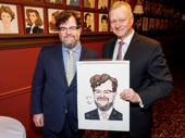 Congrats to playwright and director Kenneth Lonergan on his Sardi's caricature! Owner Max Klimavicius recently presented the 2017 Oscar nominee with his portrait.(Photo: Emilio Madrid-Kuser)