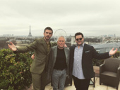 Bonjour! Dan Stevens, Alan Menken and Josh Gad say hello to Paris during the Beauty and the Beast press tour.(Photo: Instagram.com/joshgad)