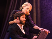 Jake Gyllenhaal as George and Annaleigh Ashford as Dot in Sunday in the Park with George.
