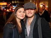 Amélie star Phillipa Soo and her fiancé, Broadway fave Steven Pasquale, step out.
