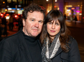 Tony winner Douglas Hodge and Amanda Miller attend the off-Broadway opening of If I Forget.