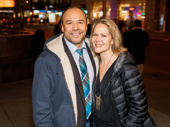 Date night! Theater couple Danny Burstein and Rebecca Luker hit the off-Broadway circuit.