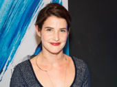 Present Laughter's Cobie Smulders enjoys being on the Broadway scene.