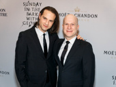 Theater power couple Jordan Roth and Richie Jackson enjoy a night out.