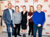 The Little Foxes' Darren Goldstein, Richard Thomas, Cynthia Nixon, Laura Linney and Michael McKean get together. Catch them at the Samuel J. Friedman Theatre beginning on March 29.