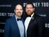 Sweeney Todd star Brad Oscar poses with husband Diego Prieto on opening night.