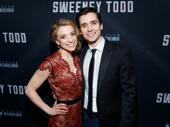 Johanna and Anthony unite! Sweeney Todd's Alex Finke and Matt Doyle snap a pic.