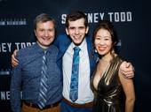 Sweeney Todd's three-piece band: Michael Breaux, Aandrew Gerle and Tomoko Akaboshi.