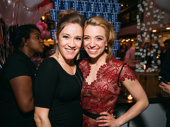Sweeney Todd sopranos Betsy Morgan and Alex Finke snap a pic at the cast party.