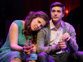 Lindsay Mendez as Laura and Gideon Glick as Jordan in Significant Other.