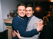 We are gushing over this Spring Awakening original cast love! Jonathan Groff and Significant Other star Gideon Glick hug it out.