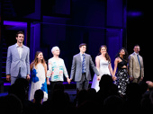 The cast of Significant Other takes their opening night curtain call.