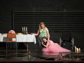 Madison Ferris as Laura Wingfield and Sally Field as Amanda Wingfield  in The Glass Menagerie.