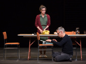 Sally Field as Amanda Wingfield and Joe Mantello as Tom Wingfield in The Glass Menagerie.