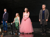 The cast of The Glass Menagerie takes an emotional opening night curtain call.