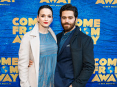 Newly engaged couple Emily Padgett, who is gearing up for Broadway's Charlie and the Chocolate Factory, and Tony nominee Josh Young.