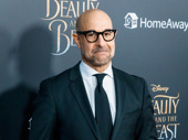 Stanley Tucci, who plays Maestro Cadenza, looks ready for a standing ovation.