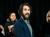 """Happiness is seeing Great Comet star Josh Groban hit a red carpet. It is also listening to his song """"Evermore"""" from the film."""