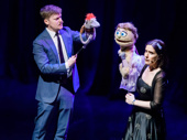 """Steven Boyer as Tyrone & Stephanie D'Abruzzo as Kate Monster take the stage to sing """"There's a Fine, Fine Line"""" from Avenue Q."""