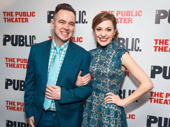 Bandstand-bound star Laura Osnes steps out to support her friend, Joan of Arc's music copyist Benjamin Rauhala.