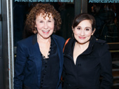 Danny DeVito's wife Rhea Perlman and their daughter Lucy attend the opening night of Broadway's The Price.