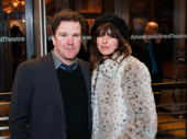 Tony winner Douglas Hodge and Amanda Miller take a photo.