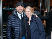 Theater couple Danny Burstein and Rebecca Luker attend The Price's Broadway opening.