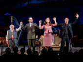 Happy opening! The Price's Danny DeVito, Tony Shalhoub, Jessica Hecht and Mark Ruffalo take their opening night curtain call.