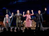 Happy opening! The Price's Danny DeVito, Tony Shalhoub, Jessica Hecht and Mark Ruffalo take their opening night curtain call.