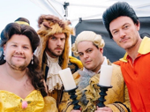 James Corden makes the perfect Belle. Corden, Dan Stevens, Josh Gad and Luke Evans recently put on the latest edition of Crosswalk the Musical. This time, they took on Beauty and the Beast. If you haven't watched it yet, what are you waiting for?!(Photo: Twitter.com/joshgad)