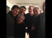 You know it's a fab first preview when Sir Ian McKellen is in the house! Harvey Fierstein, Gabriel Ebert and their cast mates in Gently Down the Stream get together.(Photo: Instagram.com/theharveyfierstein)
