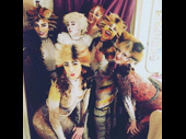 What a meow-velous girl gang! Cats' furry, fabulous crew snaps a group shot backstage.(Photo: Instagram.com/christinecornish)