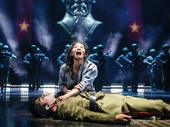 Eva Noblezada as Kim and Devin Ilaw as Thuy in Miss Saigon.