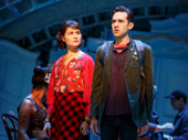 Phillipa Soo as Amelie and Adam Chanler-Berat as Nino in Amelie.