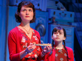 Phillipa Soo as Amelie and Savvy Crawford as Young Amelie in Amelie.