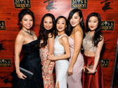 Miss Saigon's glam gals get together: Catherine Ricafort, Carol Angeli, Anna-Lee Wright, Tiffany Toh and Viveca Chow.