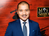 Miss Saigon's show-stopping Jon Jon Briones is poised for the press.