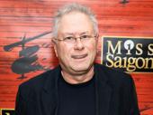 Composing legend Alan Menken attends Miss Saigon's Broadway opening.