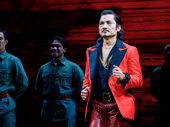 He is truly living the American Dream! Miss Saigon's Jon Jon Briones takes his curtain call on opening night.