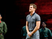 Miss Saigon hunk Alistair Brammer greets the audience's thunderous applause.