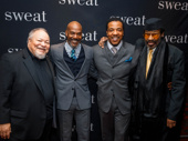 Stephen Mckinley Henderson, Sweat's John Earl Jelks, Russell Hornsby and Anthony Chisholm were all in August Wilson's Jitney off-Broadway.