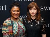 Sweat scribe Lynn Nottage and director Kate Whoriskey get together for a photo.