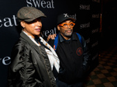 Film legend Spike Lee and his wife Tonya Lewis have arrived.