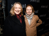 Present Laughter scene-stealers Kristine Nielsen and Kate Burton spend their night off at Sweat's Broadway opening.
