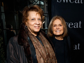 Writer Paula Giddings and feminist icon Gloria Steinem step out for Sweat's Broadway opening.