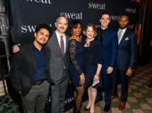 Sweat's incredible understudies: Reza Salazar, Steve Key, Lisa Renee Pitts, Deirdre Madigan, Hunter Hoffman and Benton Greene.